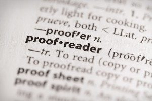 proof reader text