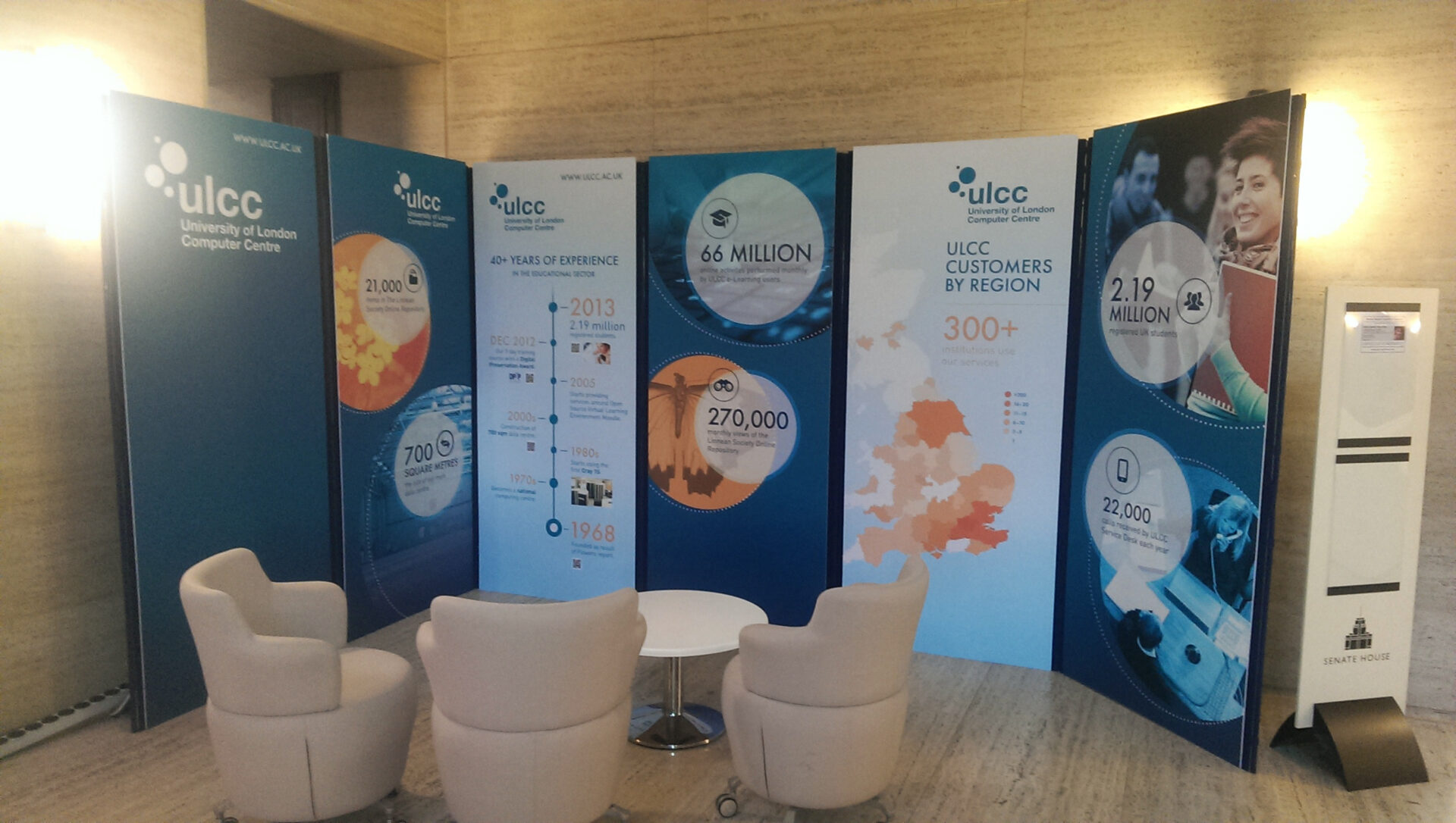 Exhibition Stand Boards : Bluedot display