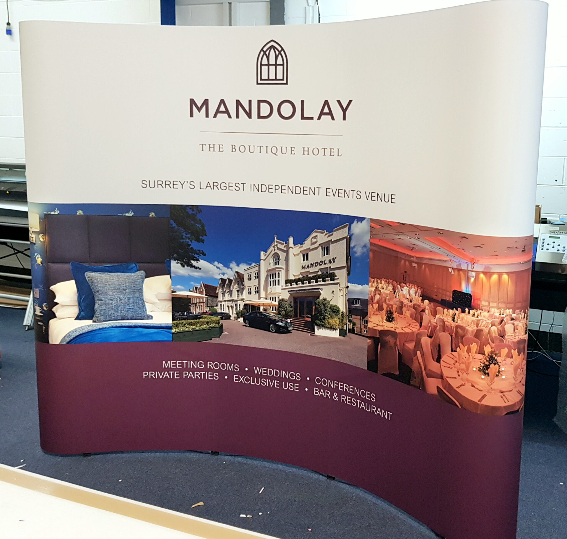 Modern Exhibition Stand Lighting : Pop up display stands in guildford and surrey bluedot display