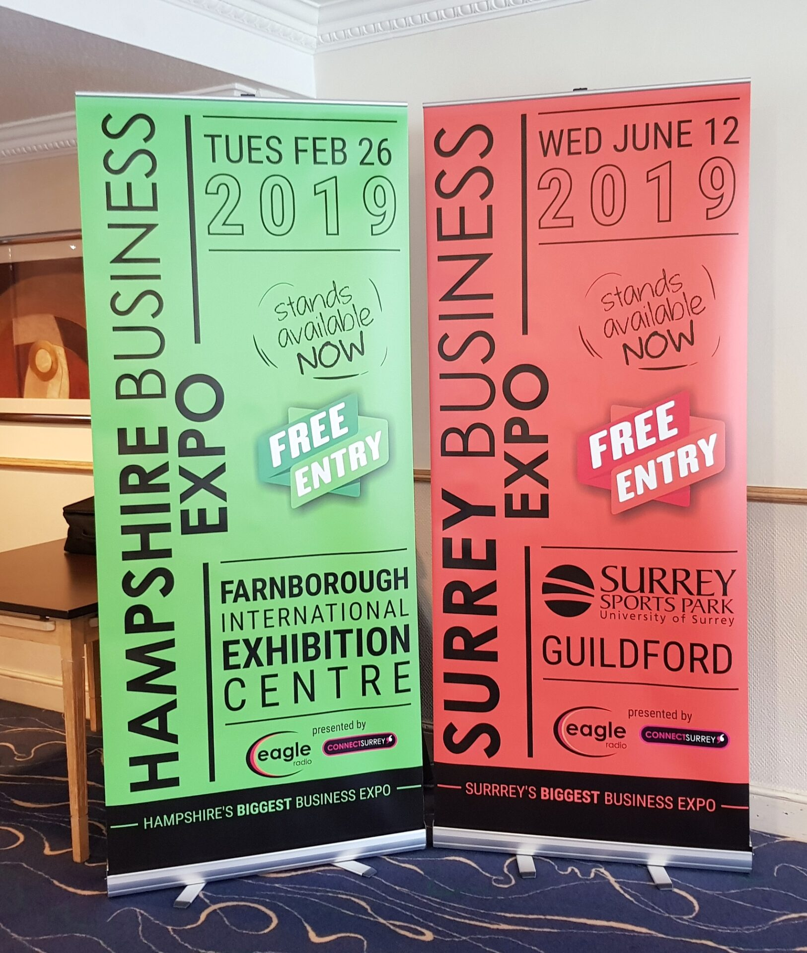 Pull Up Banner Stands in Hampshire
