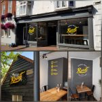 Roost restaurant vinyl graphics