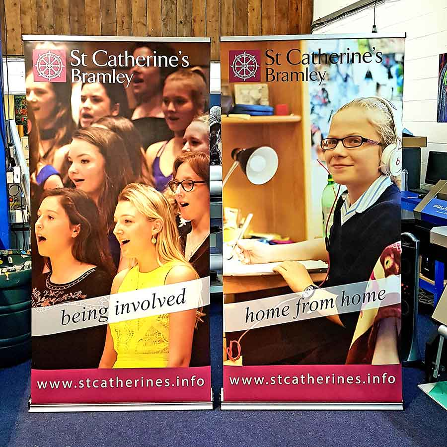 1000mm pop up roller banner for education