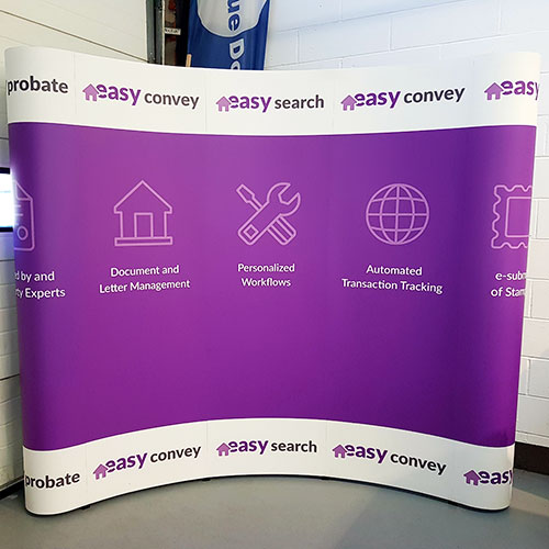 High impact pop up display stand