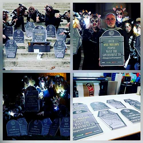 Gravestones foamex display boards