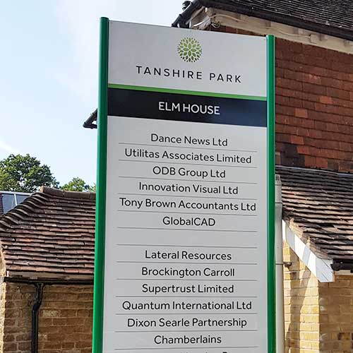 Totem sign board created for Tanshire Park