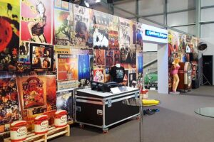 Large format printed wall graphics by Bluedot Display for an exhibition